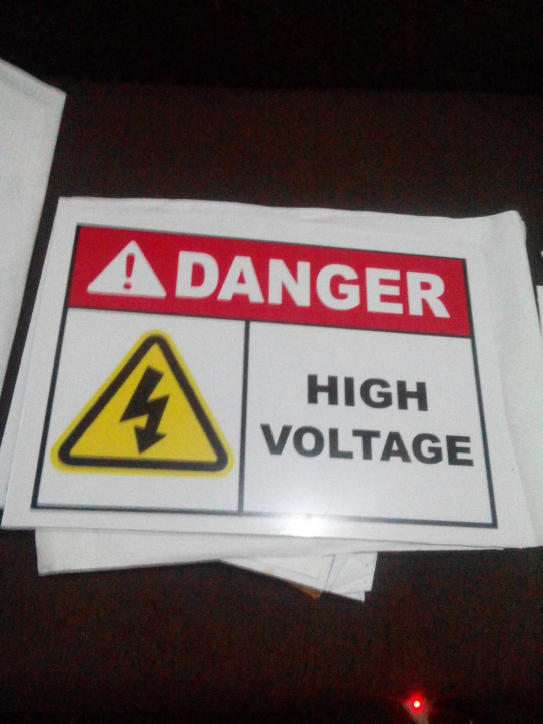 Power and security signs